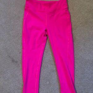 New balance for J Crew hot pink 7/8 leggings M